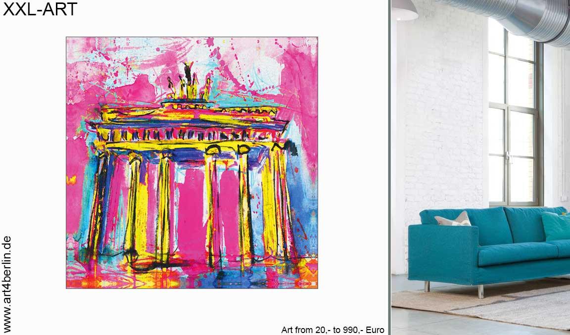 kunst im wohnzimmer - GROSSE BILDER! Großformatige Kunst - Wohnen und Einrichten mit Gemälden - moderne Wandbilder - XXL Leinwandbilder für Wohnzimmer