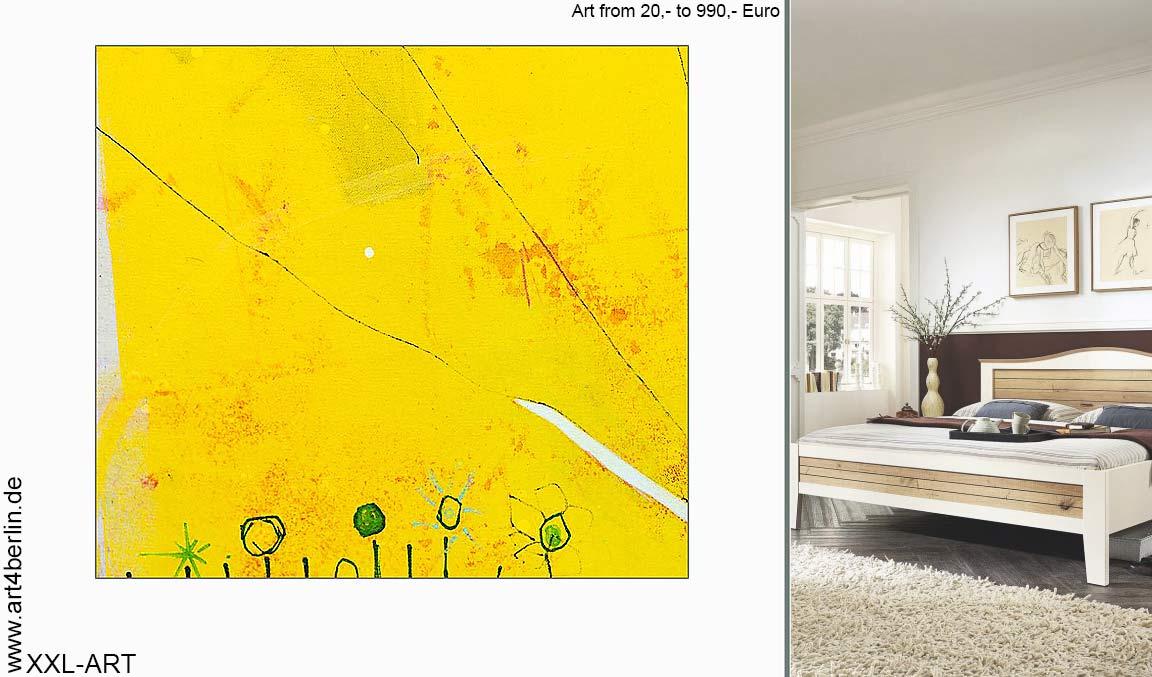 wohnen mit kunst bildern echter malerei kunst f r wohnzimmer gem lde im b ro moderne. Black Bedroom Furniture Sets. Home Design Ideas