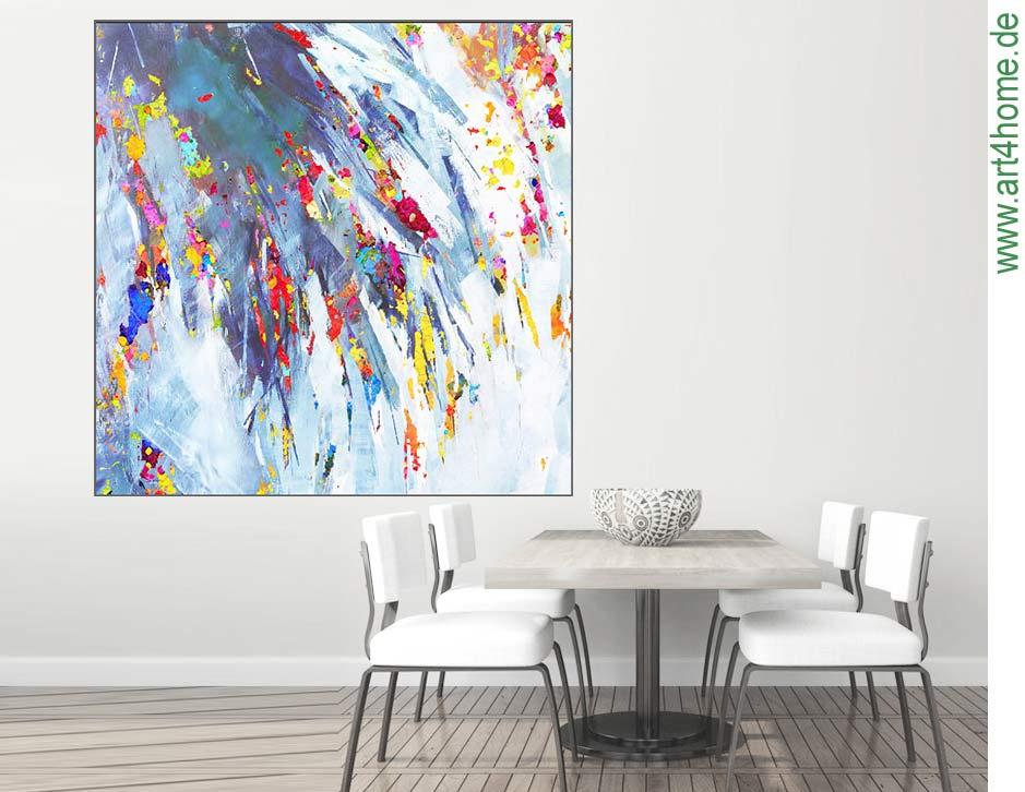 wohnen einrichten kunst malerei - GROSSE BILDER! Großformatige Kunst - Wohnen und Einrichten mit Gemälden - moderne Wandbilder - XXL Leinwandbilder für Wohnzimmer