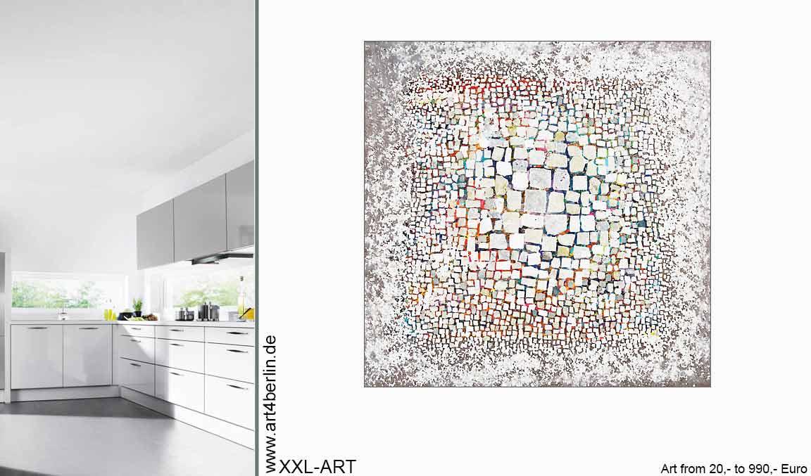 wohnideen bilder gemaelde kunst - GROSSE BILDER! Großformatige Kunst - Wohnen und Einrichten mit Gemälden - moderne Wandbilder - XXL Leinwandbilder für Wohnzimmer
