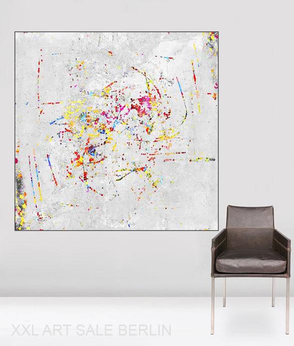 wohnzimmer wand kunst - GROSSE BILDER! Großformatige Kunst - Wohnen und Einrichten mit Gemälden - moderne Wandbilder - XXL Leinwandbilder für Wohnzimmer
